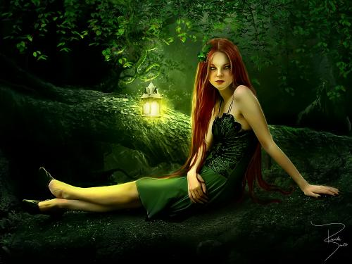 Fantasygreen Child Witch, Green Witches