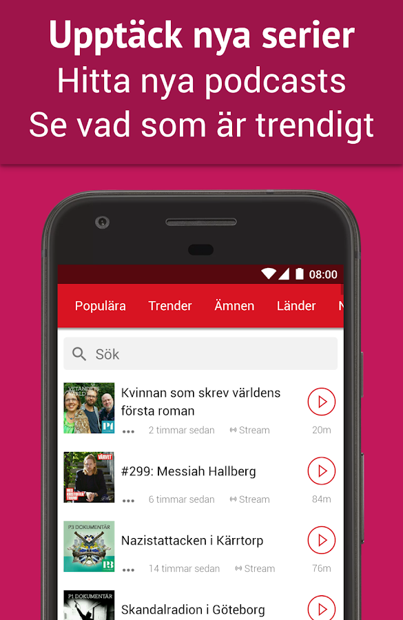 Podcast Player - Gratis– skärmdump
