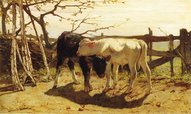 Willem Maris - The Calves