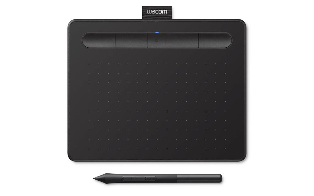 Wacom Intuos Small Black Pen Below wBT 1000x874