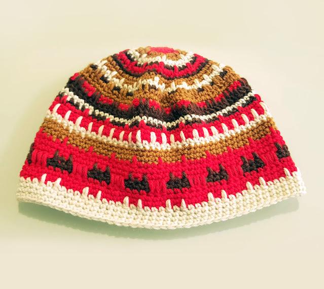 Fair Isle-inspired crochet beanie (nephithyrion)