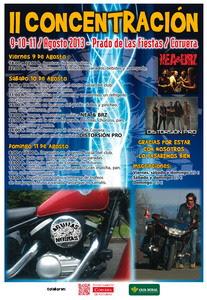 Cartel II Concentración Águilas Negras de Corvera, año 2013