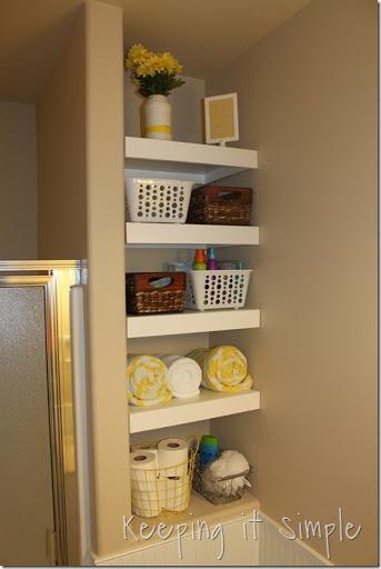 Amazing DIY Shelves For A Small Bathroom