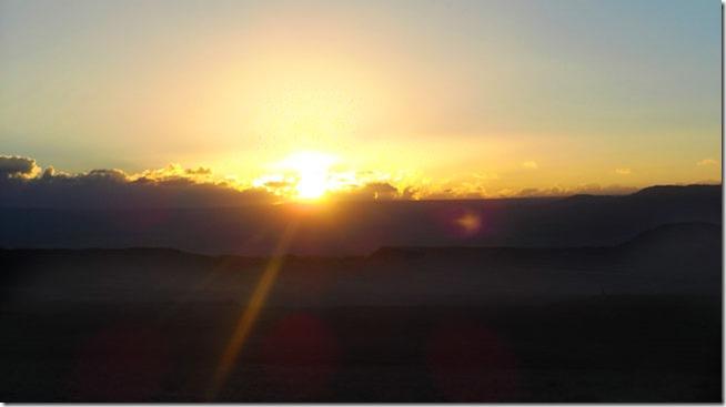 Valle de La Muerte, Atacama, por do sol