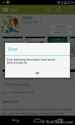 EVERY THING IS HERE: Google play showing error check connection