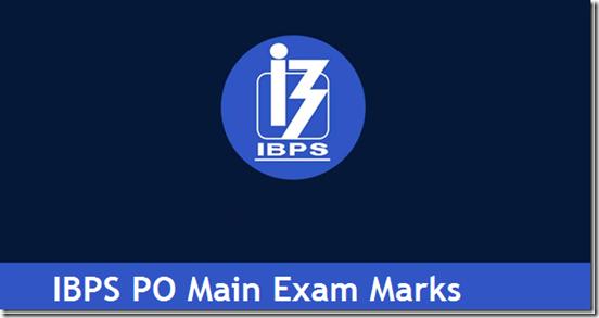 IBPS PO Mains Marks 2016