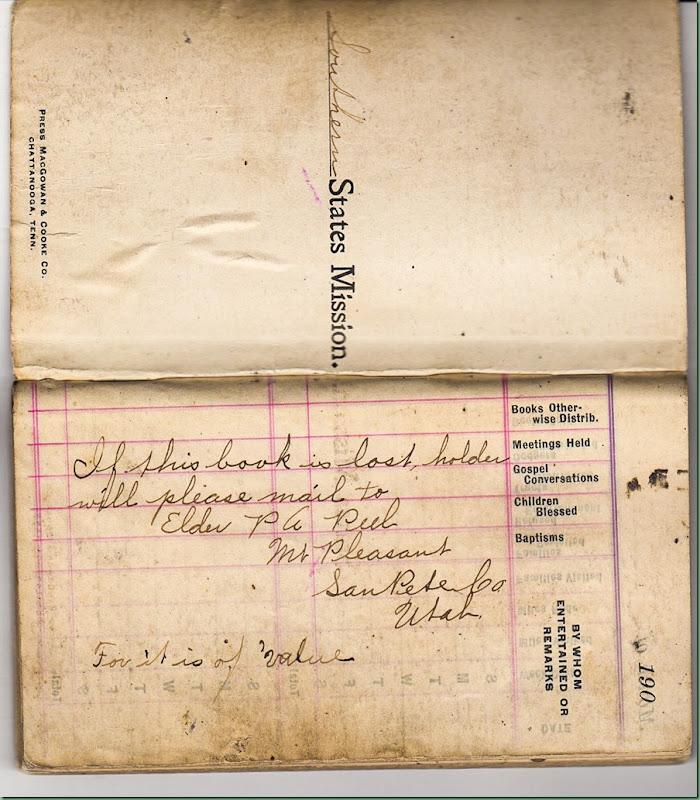 Peel, Missionary book 1