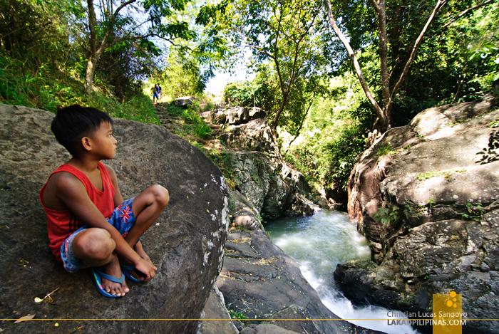 A Local Kid at Mambukal's Seven Waterfalls