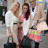 WWW.ENTSIMAGES.COM -   DJ Sarah Giggle, Lydia Lucy and Lewis-Duncan Weedon  arriving at    Cherry Edit - launch party at Cafe KaiZen, London October 1st 2014New fashion website, which features monthly flash accessories sales, marks its launch.                                                 Photo Mobis Photos/OIC 0203 174 1069