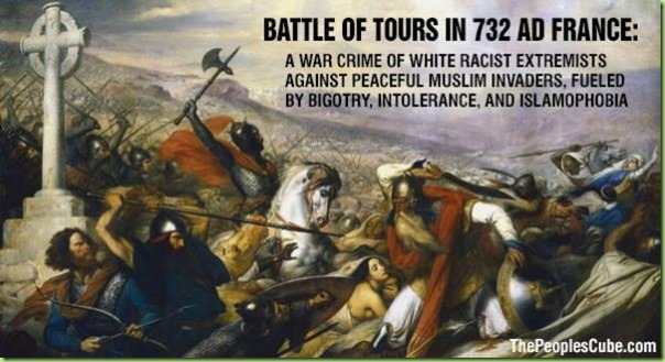 battle of tours france muslims vs racist islamophobes