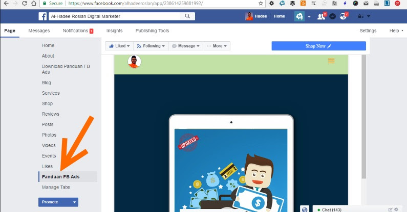 Squeeze Page Di Dalam Facebook Page