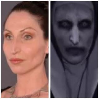 lagi viral siapakah pemeran tokoh iblis valak di the conjuring 2