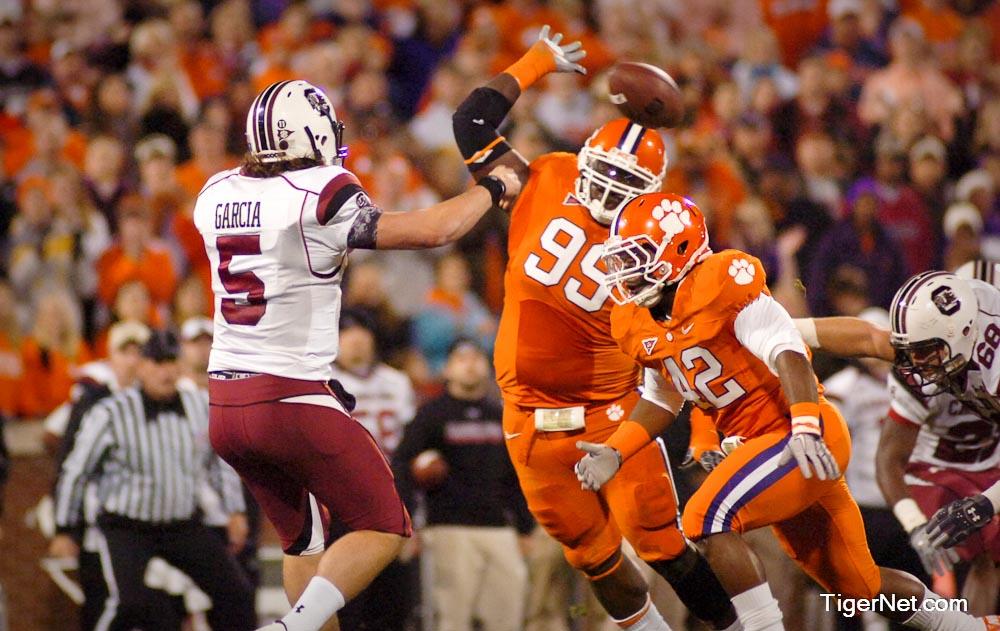 Clemson vs. South Carolina Photos - 2010, Corico Hawkins, Football, Jarvis Jenkins, South Carolina