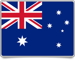 Australian framed flag icons with box shadow