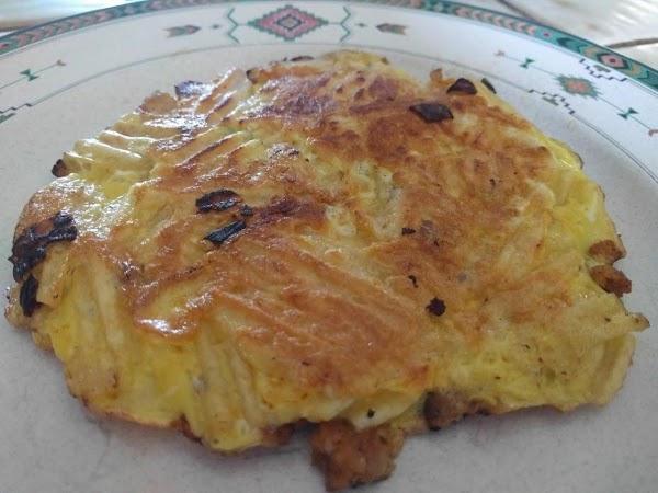 5 Minute Portuguese Potato Chip Omelet Recipe