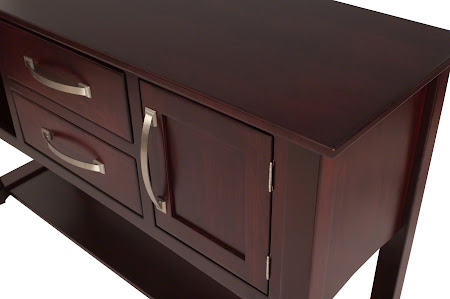 Cathedral Lancaster Sideboard in Bing Cherry with Custom Hardware
