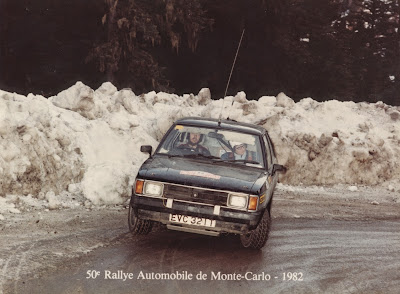 Keith Edwards on the 1982 Monte Carlo Rally in a Talbot Sunbeam