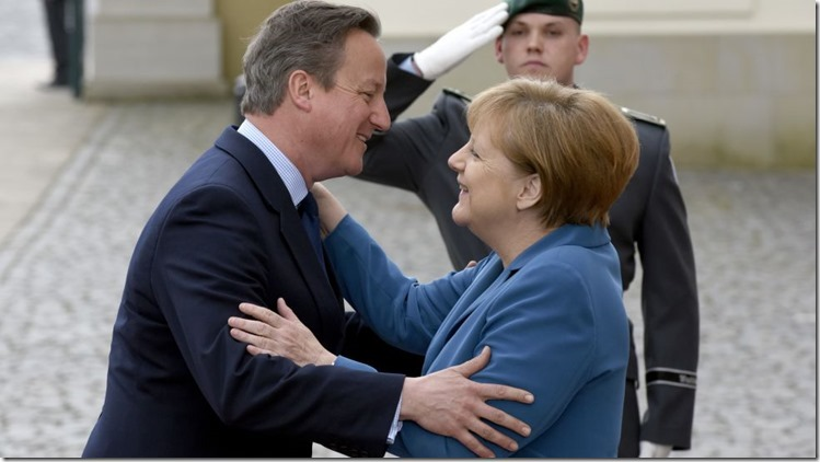 Merkel mit Cameron