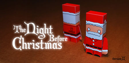The Night Before Christmas Santa Paper Toy