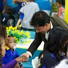 Prefeito Carlin Moura visitou à creche Lagoa Azul
