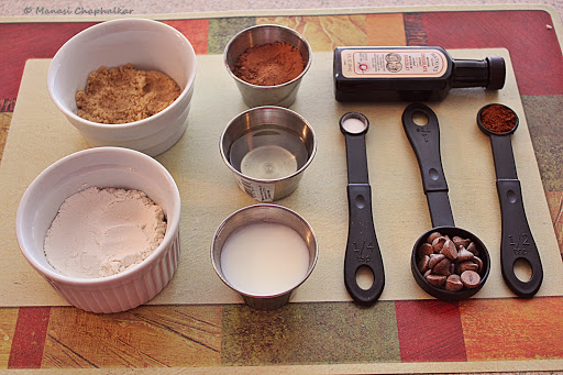 Instant Microwave Chocolate Mug Cake Ingredients