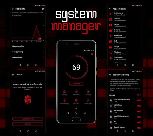 Mosaic Red EMUI 5/8/9 Theme screenshot 6