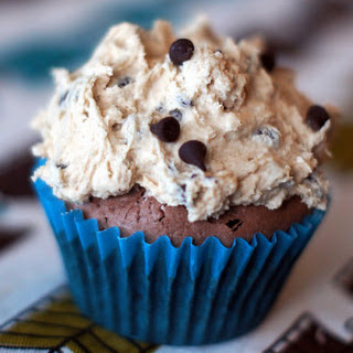 Ben and Jerry's Half Baked Cupcakes (Fudge Brownies with Cookie Dough Frosting).