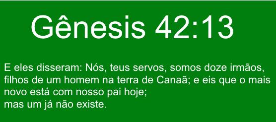 Genesis capitulo 42 versículo 13