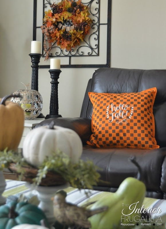 Checkered Fall Pillow Vignette 700