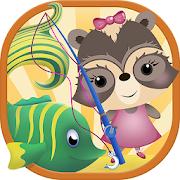 Candy Raccoon: Kids Fishing