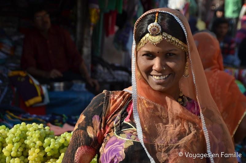 femme marché Jodhpur