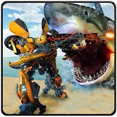 Car Robot Shark Hunting-Monster Shark Survival