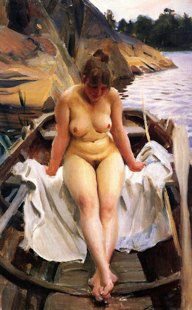 Anders Zorn - In Werner's Rowing Boat