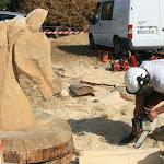 Démonstration de tronçonneuse des Castors Sculpteurs