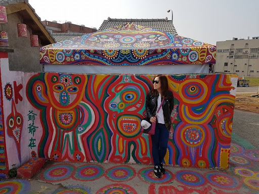 Morning time at Rainbow Village in Taichung Taiwan