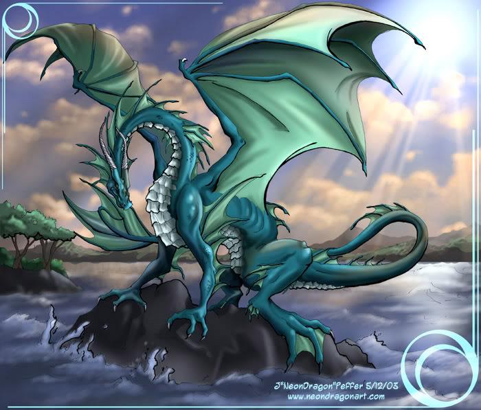 Water Dragon Sun, Dragons