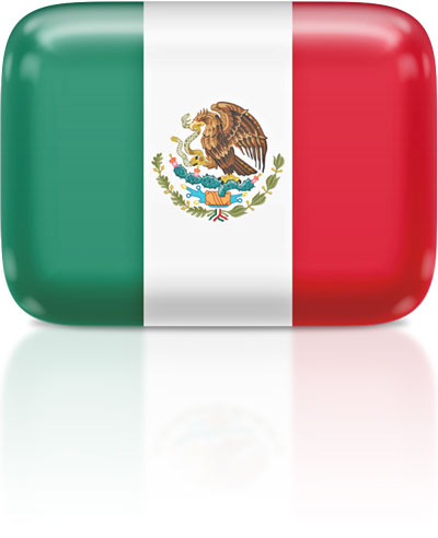 Mexican flag clipart rectangular