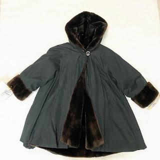 Nutria Lined Hooded Raincoat