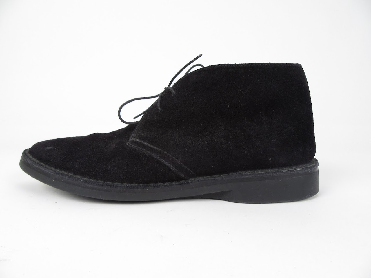 Prada Black Suede Chukka Boots