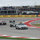 Safety car on the Circuit of The Americas