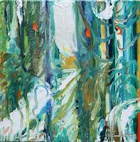"""""""Wir tragen Früchte"""", Öl auf Leinwand, 48x48, 2005"""
