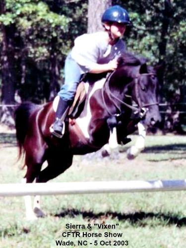 Vixen & Sierra - practice at CFTR Horse Show - 2003