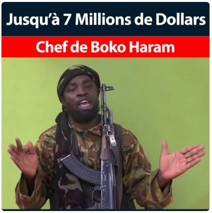 $7m bounty for shekau's head, SD news blog, shugasdiary com.ng, crime news Nigeria, nerc Abuja, US government,