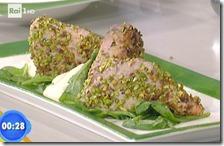 Tonno in crosta di pistacchi con maionese light