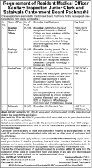Cantonment Board Pachmarhi Jobs 2016