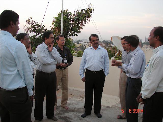 Demonstration of Amateur Radio Satellite communication to Mr Annadurai and Mr Raghavamurthy - DSC00135.JPG