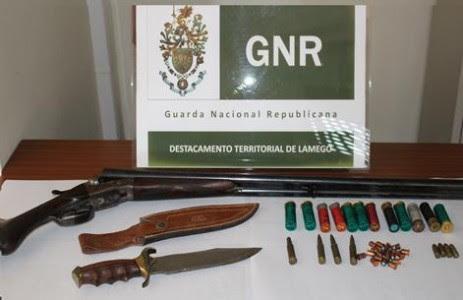 Detenção por posse de armas em Lamego