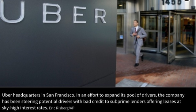 Uber Promotes Subprime Auto Loans To Increase Driver Pool Taxi News