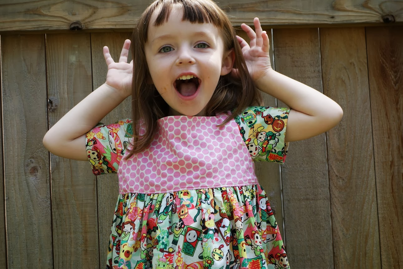 Sally Dress pattern by Very Shannon || Made with Moxie