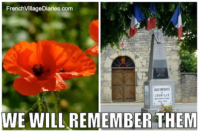 French Village Diaries 11th November Remembrance Day Poppy Appeal